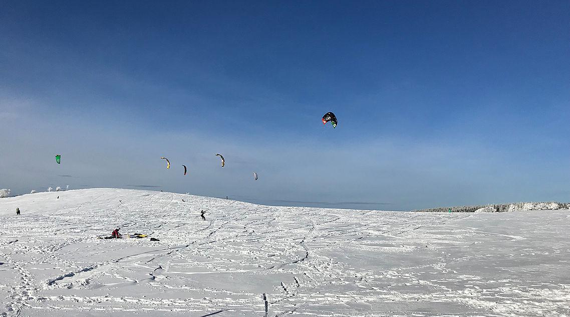 Snowkiting Schauinsland