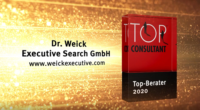 Dr. Weick ist Top Consultant 2020